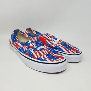 Vans Authentic Free Flag Red White Men's Size 8